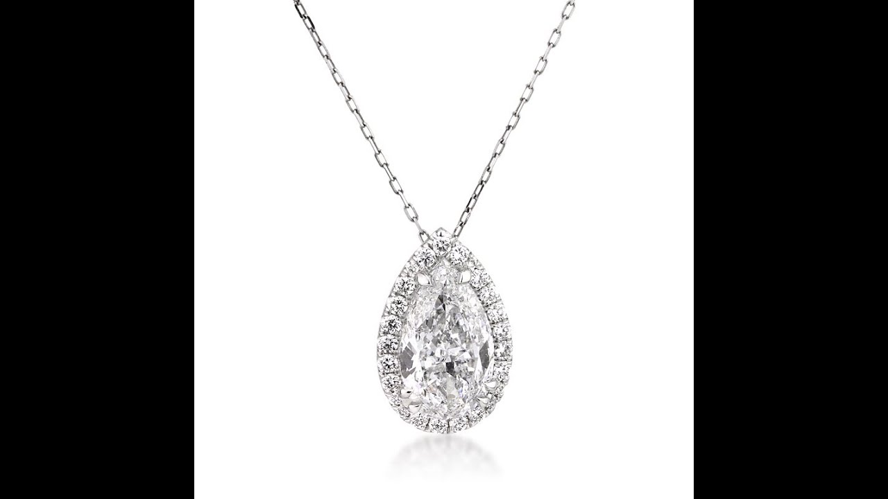 pear shaped diamond filigree gold center pendant white
