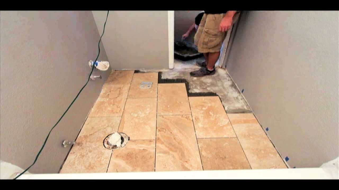 How to Tile a Bathroom in 2 Minutes - YouTube