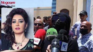 سر تخفي وفاء عامر من الصحفيين فى وداع  سمير غانم