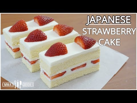Fluffy Japanese Strawberry Shortcake Recipe - Japanese Strawberry Cake イチゴのショートケーキ