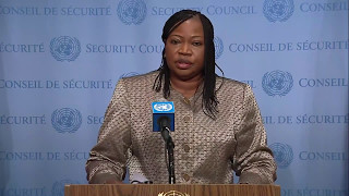 Fatou Bensouda (ICC) on the situation in Libya & other matters -  Media Stakeout