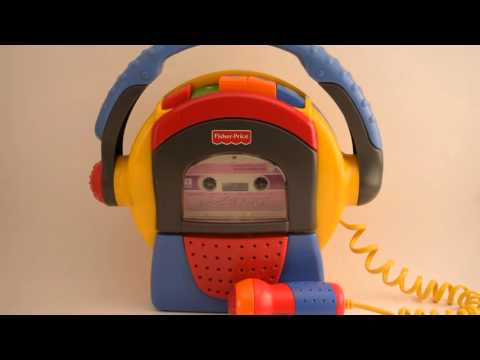 Fisher-Price 1999 Mattel TUFF STUFF Cassette Tape Player Recorder Microphone ~ Recording