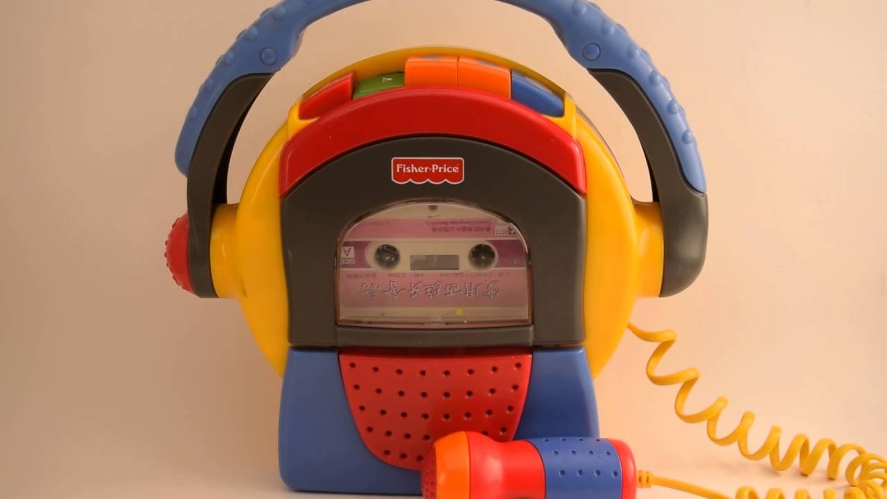 Fisher-Price 1999 Mattel TUFF STUFF Cassette Tape Player Recorder Microphone ~ Recording - YouTube