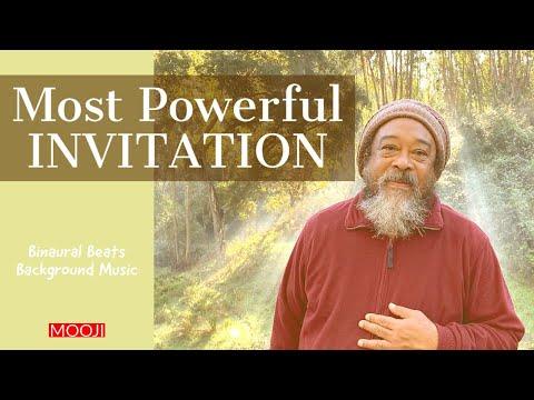 Mooji - MOST Powerful INVITATION - Background Music - Binaural Beats