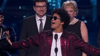 Bruno Mars Wins Record Of The Year | Acceptance Speech | 60th GRAMMYs