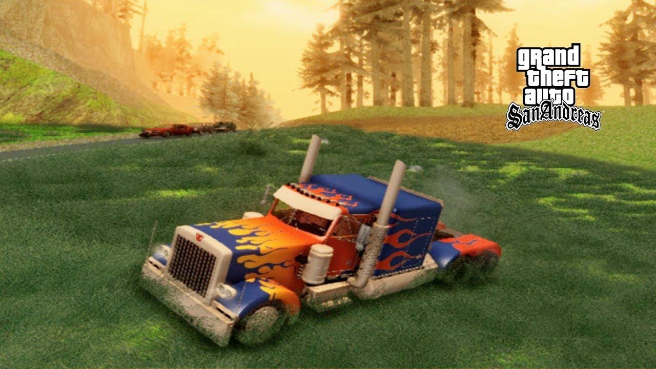 Mobil Truk Transformer Bisa Berubah Jadi Robot GTA San Andreas