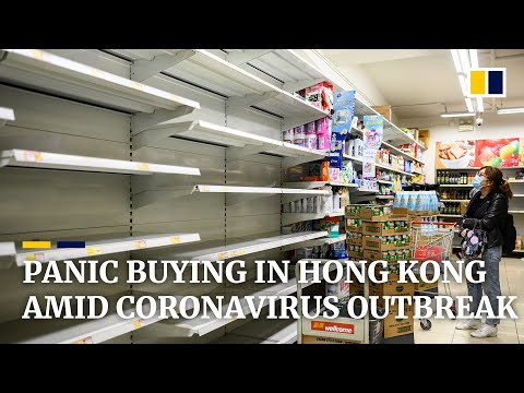 Shelves cleared in some Hong Kong shops by panic buying related to coronavirus outbreak