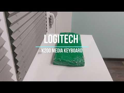 Клавіатура дротова Logitech K200 Media Keyboard USB Black (920-008814)