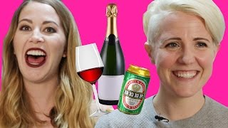 Cheap Alcohol Pairing Game w/ Hannah Hart// Ladies' Room Deleted Scene