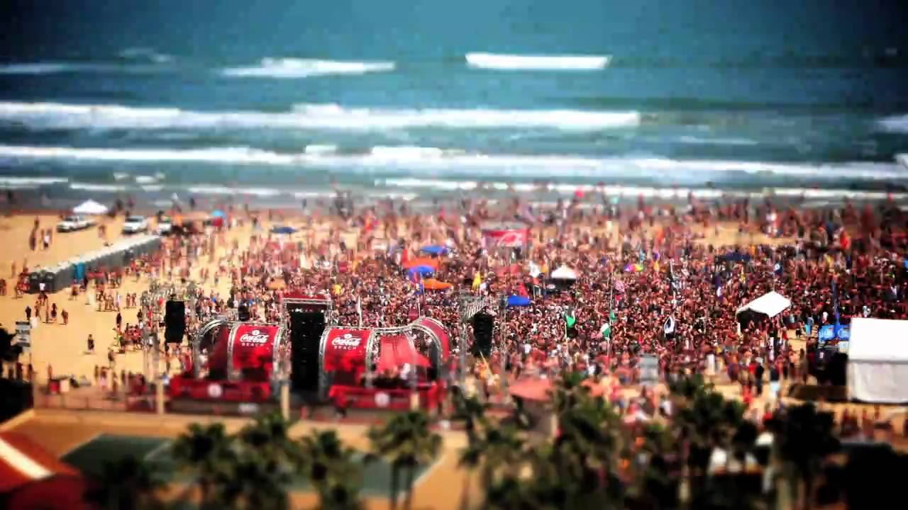Coca Cola Beach Spring Break 2017 South Padre Tx Time Lapse You