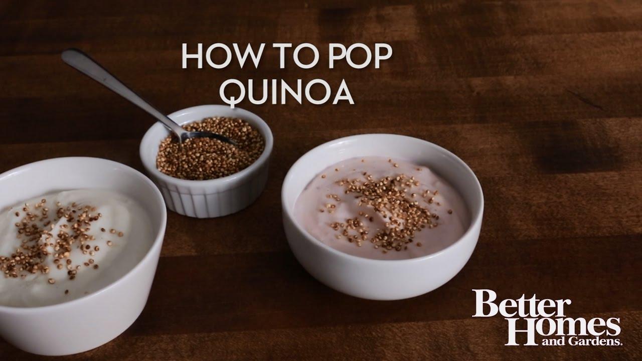 how to pop quinoa