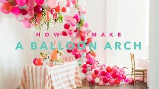 Güzel bir balon kemer oluşturma