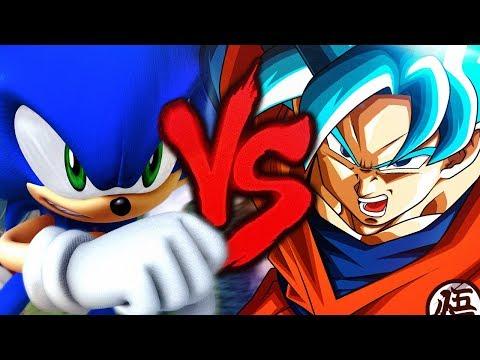 Goku VS. Sonic [Guerra Dos Deuses]