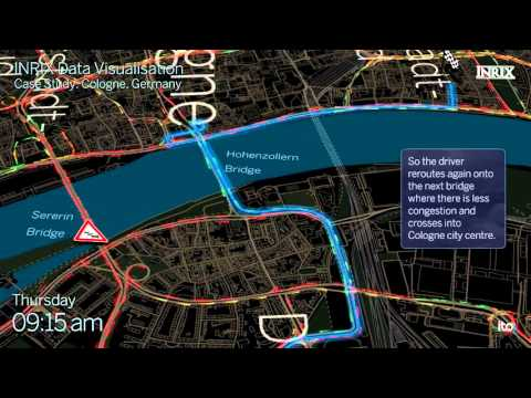 INRIX Data Visualization - Real-time Traffic, Road Weather, On-Street Parking - Cologne