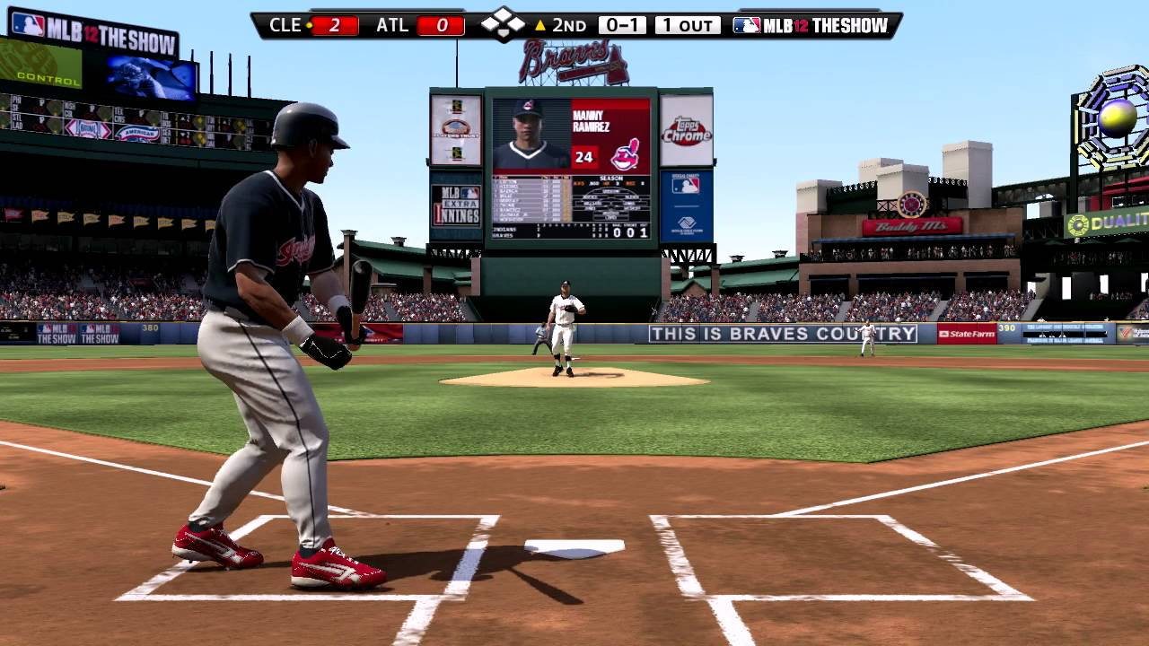 MLB 12 The Show - 1995 Cleveland Indians vs 1995 Atlanta Braves  Game 1  World Series Rematch