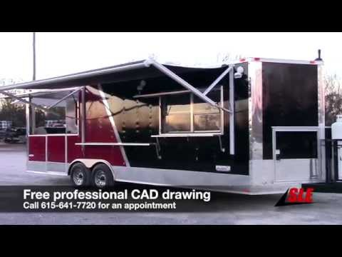 Concession Trailer Black Brandywine 8.5 X 24 BBQ Smoker Event Catering