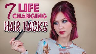7 LIFE CHANGING HAIR HACKS (unlike 5 minute crafts)