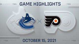 NHL Highlights   Canucks vs. Flyers - Oct. 15, 2021
