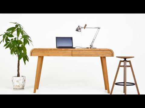 Home Office Table In Solid Oak Kon