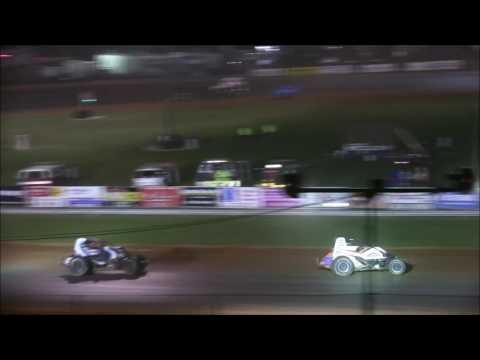 sprint car A Main at Bloomington Speedway 6 9 17