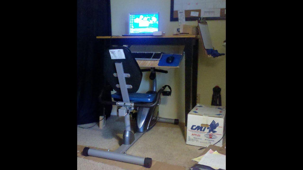 DIY Exercise Bicycle Workstation  YouTube