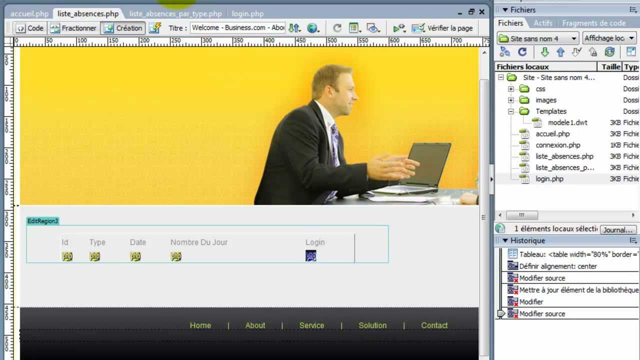 cr u00e9er un site web en php avec mysql