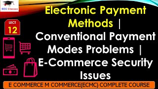 Electronic Payment Methods – Problems in Conventional Payment Modes, E-Commerce Security Issues