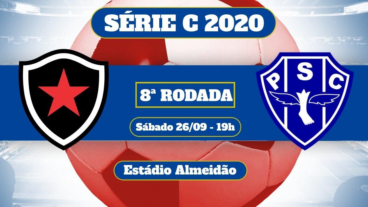 Botafogo Pb X Paysandu 8ª Rodada Brasileirao Serie C 2020 Youtube