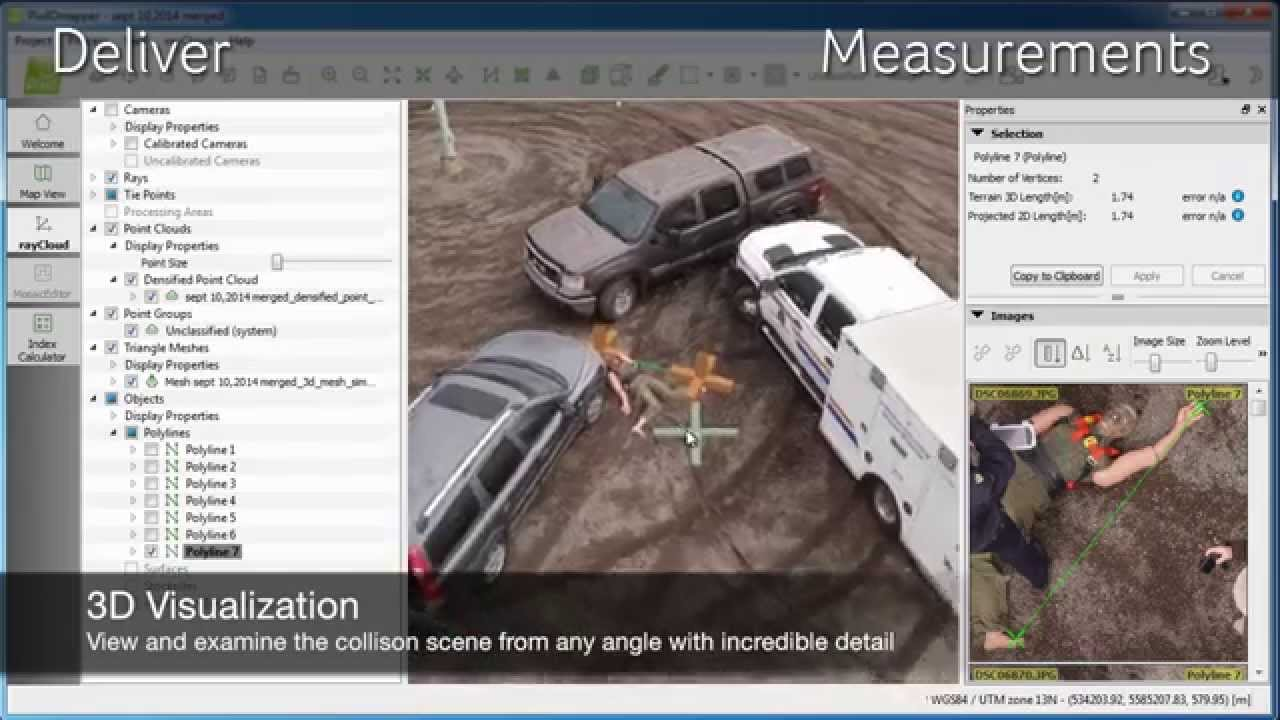 Draganflyer UAV mapping for collision and crime scene investigation ...