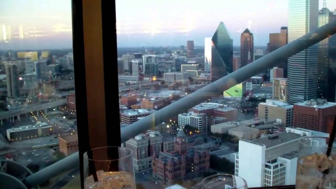 Downtown Dallas View From The Five Sixty Restaurant