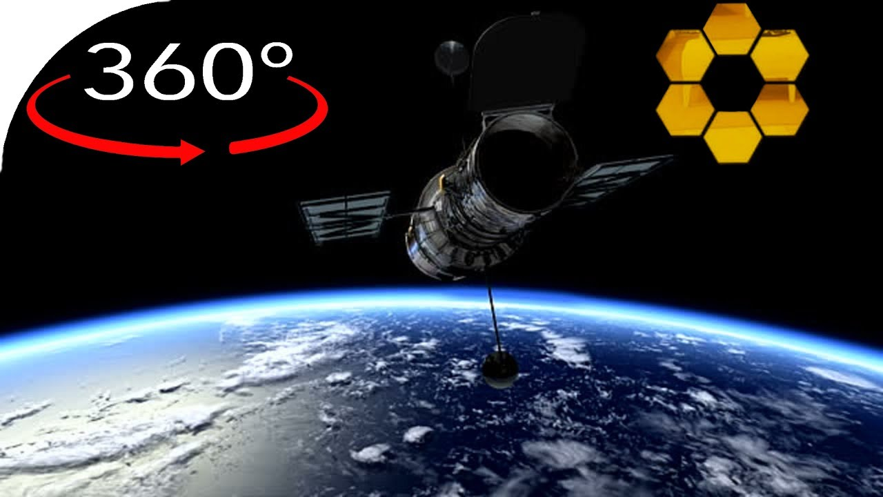 Hubble over Earth in 360° - YouTube