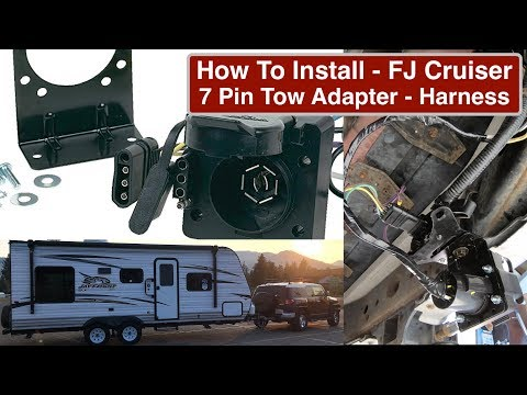Part2 How to Wire FJ Cruiser with 7 Pin Tow Adapter & Electronic Brake Controller tow wire diagram