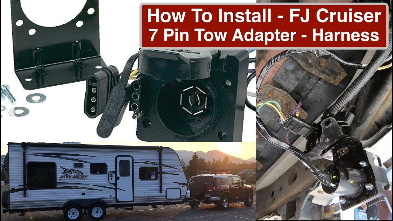 How To Wire Fj Cruiser With 7 Pin Tow Adapter And Electronic Brake Wiring Diagram Trailer Plug Controller Part2