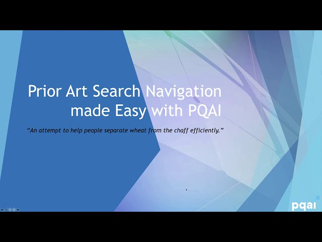 How PQAI reduces the time spent on irrelevant results during a prior art search?