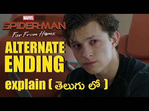Spiderman Far From Home Alternate Ending Explained In Telugu | Spider Man Far From Home Explain