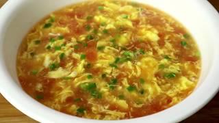 西红柿鸡蛋汤看似简单,原来也有窍门,这样做鲜美好喝,太香了