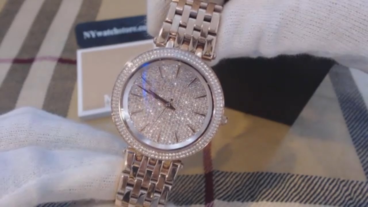 78086f6c0bab Women s Michael Kors Darci Crystallized Gold Watch MK3439 - YouTube