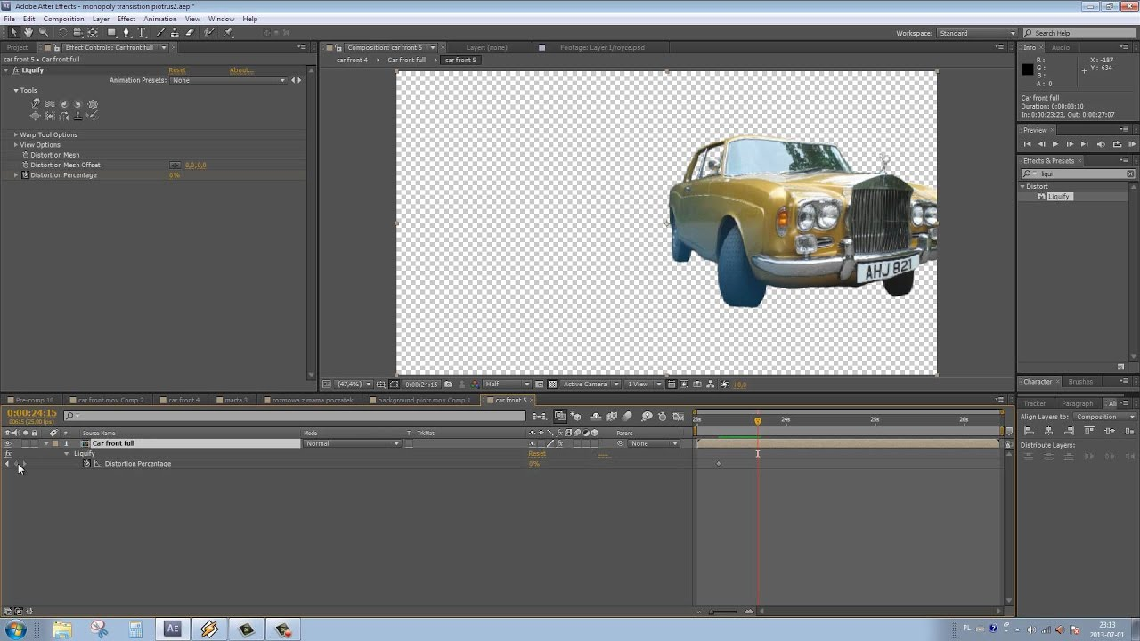 How To Transition Live Footage Into Cartoon Drawing In After Effects Part 5