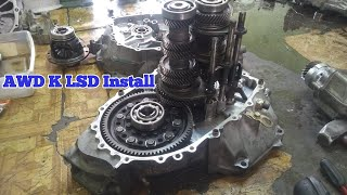 New Wavetrac AWD KSeries LSD install in a CRV / Element transmission with 6 speed conversion