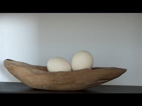Wohnung oder haus dekorieren ideen mit elementen aus for Holzschale dekorieren