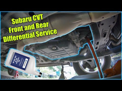 Subaru CVT Front And Rear Differential Service