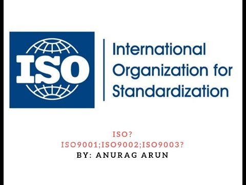 What Is ISO? ISO9001;ISO9002;ISO9003? ISO CERTIFICATION.