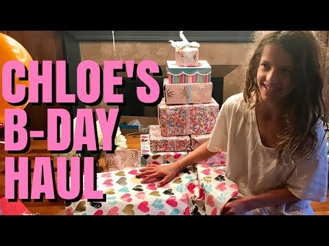 Chloe's Birthday Haul