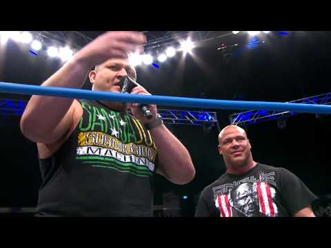 Kurt Angle and Samoa Joe interrupt Magnus (January 30, 2014)