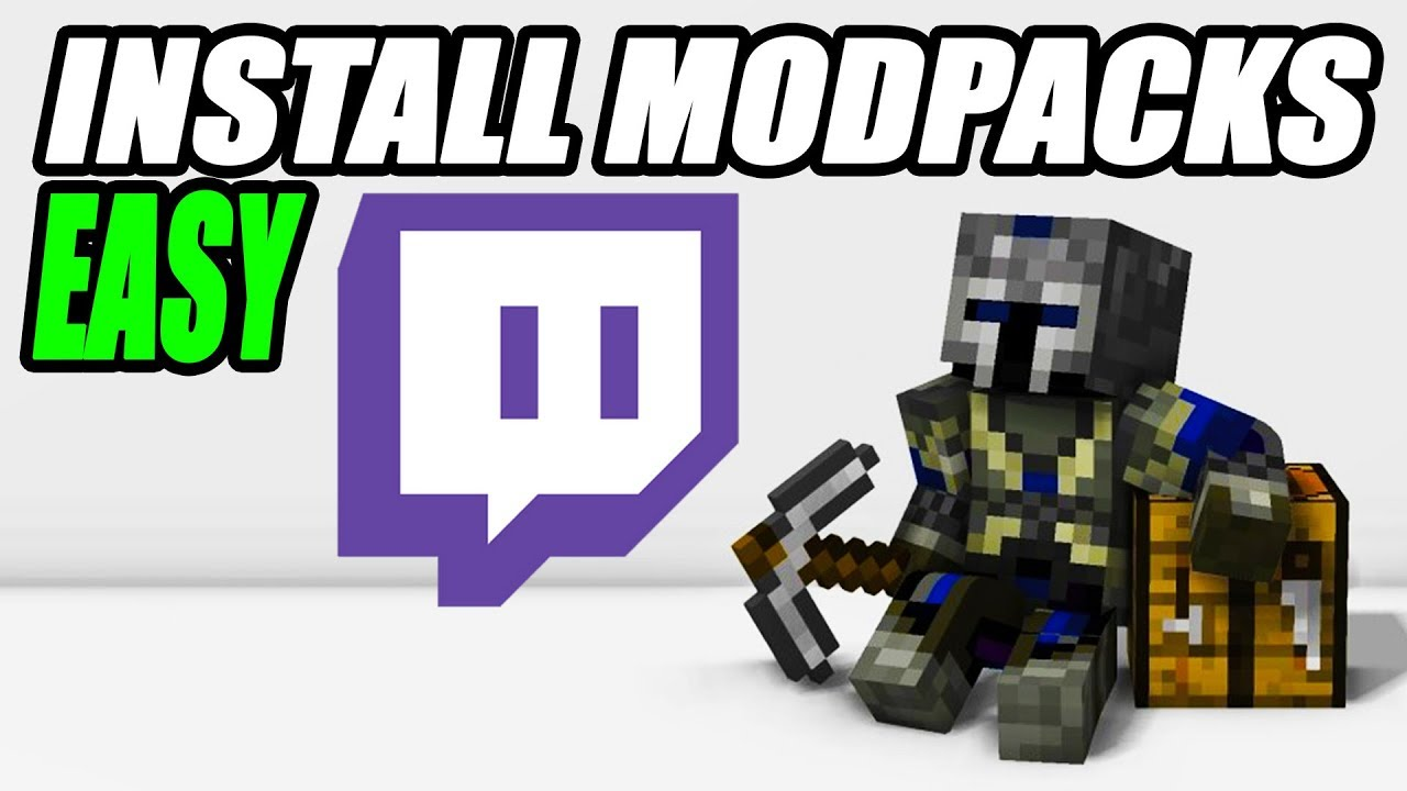 How To Install Modpacks Using Twitch App Tutorial - Mapping
