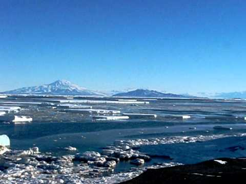 Open Water and Penguins at Hut Point - McMurdo Station, Antarctica