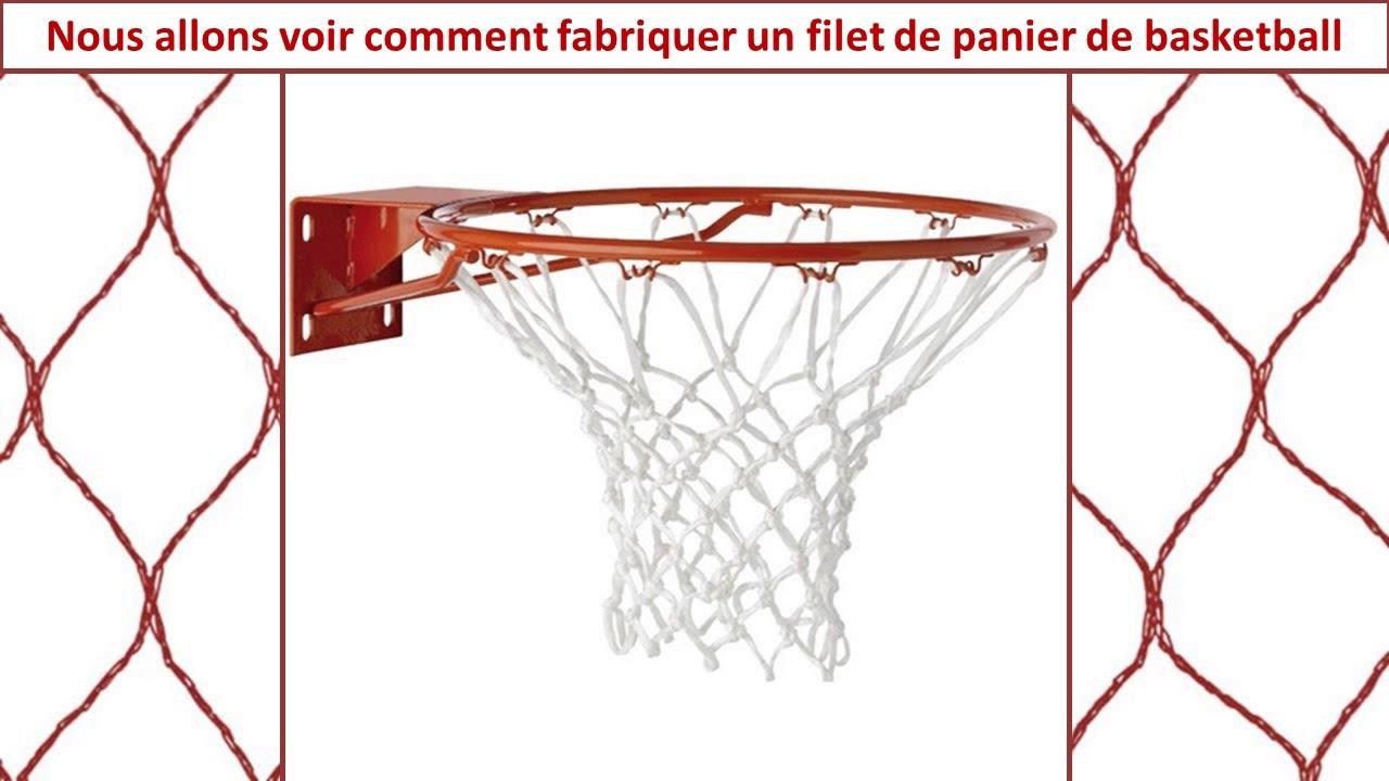 fabriquer soi m me un filet de panier de basket ball youtube. Black Bedroom Furniture Sets. Home Design Ideas