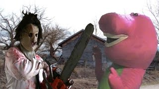 Leatherface Vs Barney The Dinosaur