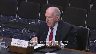CIA Director John Brennan appears before the Senate Intelligence Committee