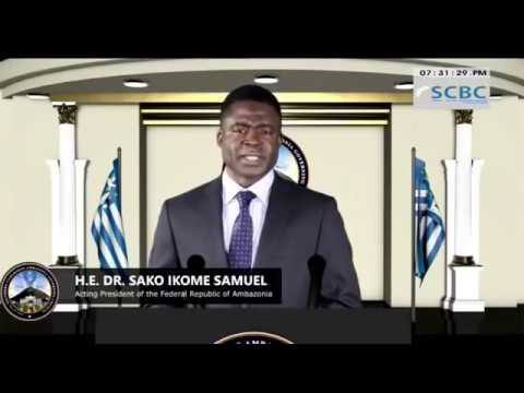 PRESIDENT Dr  Sako Ikome Samuel addresses the Nation of Ambazonia   09 02 2018